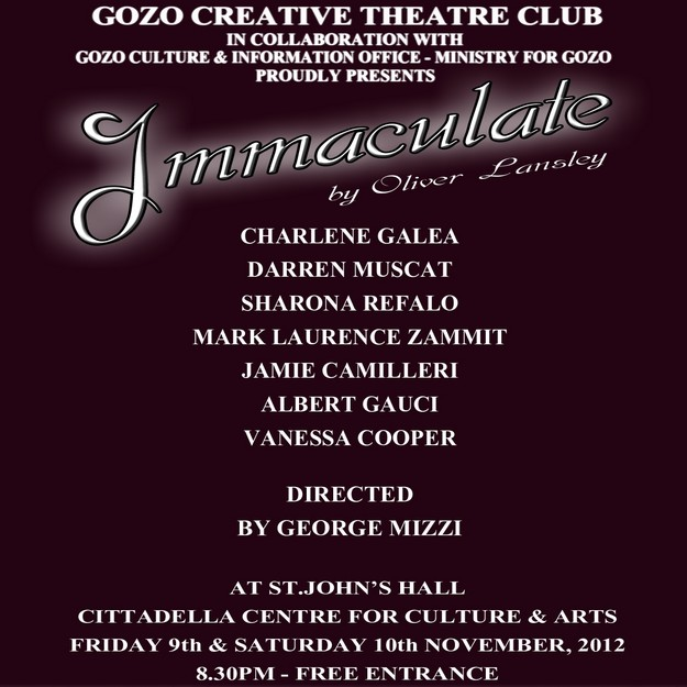 'Immaculate' a new Gozo Creative Theatre Club production