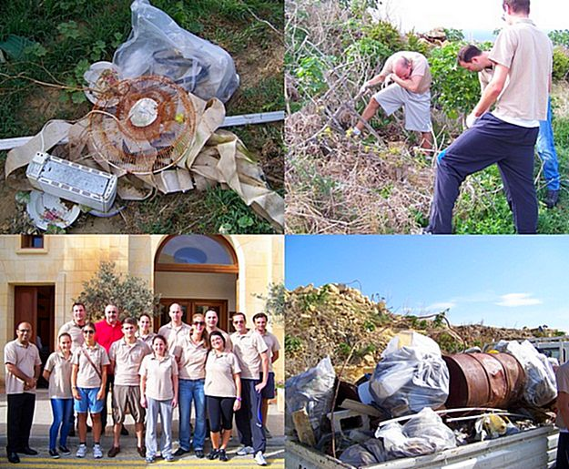 Kempinski Hotel San Lawrenz staff volunteer clean up