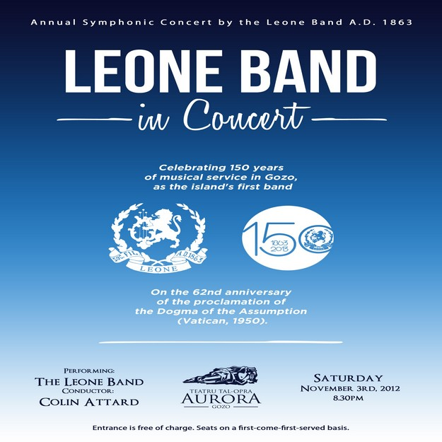 The Leone Band in Concert next Saturday at the Aurora
