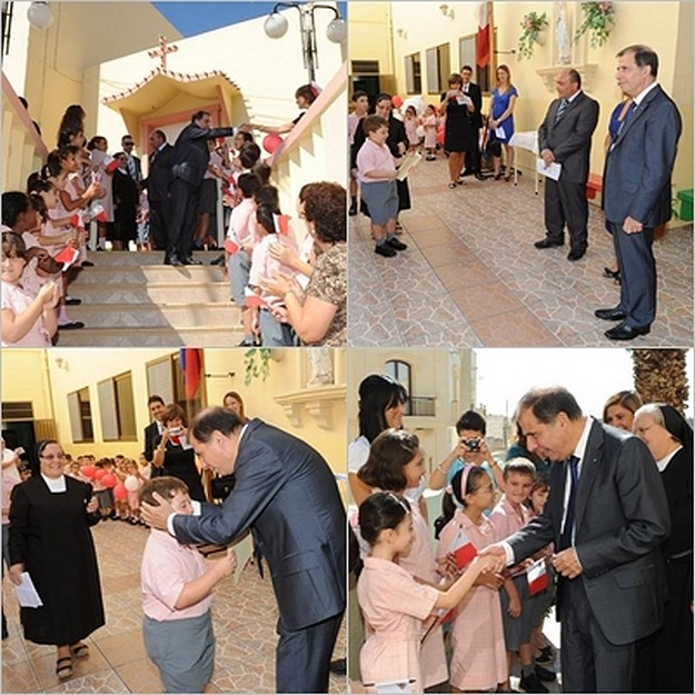 President of Malta visits St Theresa Primary School, Kercem