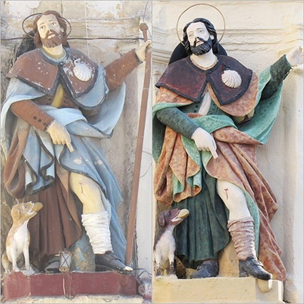 Statue of St Roque in Zebbug regains its original colours