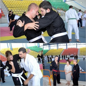 Tenchi Ryu Kempo Karate Club seminar at the Gozo Complex