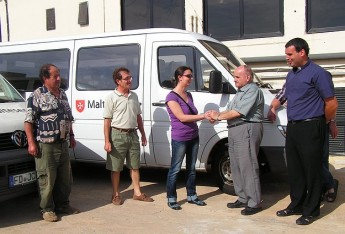 German Malteser vans donated to Arka Foundation in Gozo