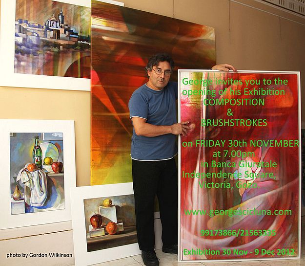 Compositions & Brushstrokes exhibition by George Scicluna