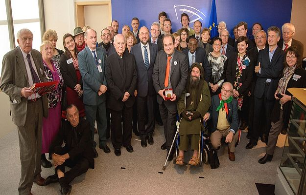 Mgr.Victor Grech in Brussels for European Citizens Prize