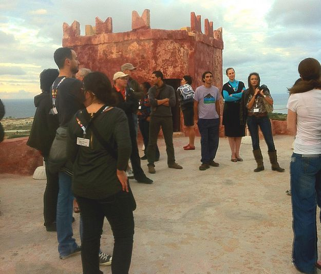 30 delegates from different countries visit the Red Tower