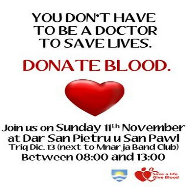 Blood Donation event taking place next Sunday in Nadur