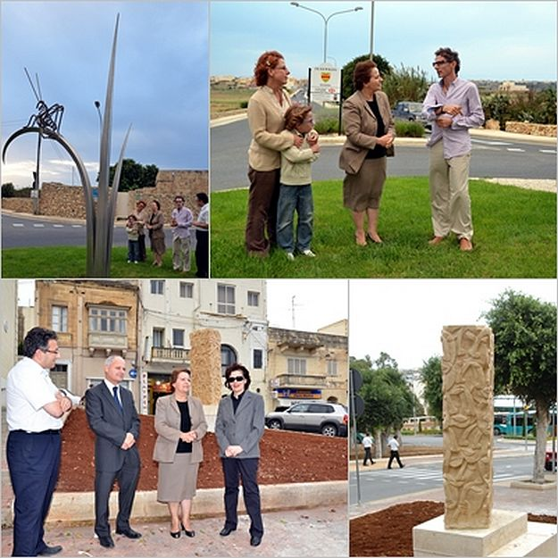 Artistic sculptures installed in public places around Gozo