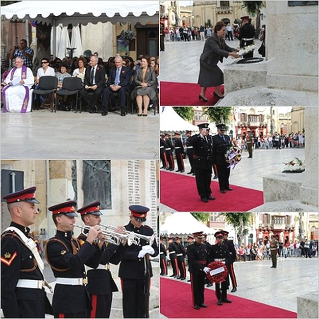Remembrance Day ceremony held in Gozo this morning