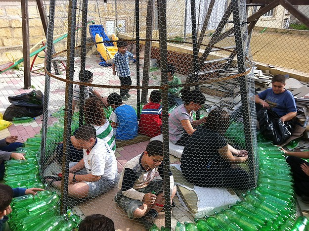 Eco-themed Christmas tree taking shape in Xaghra Village