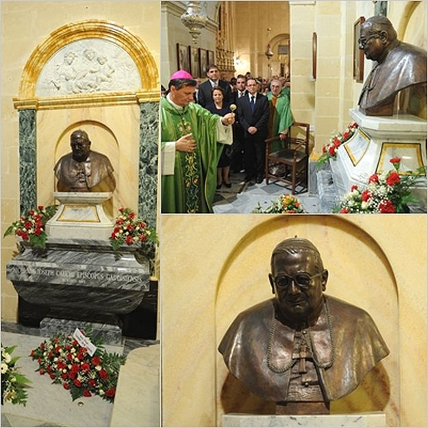 Monument unveiled on the tomb of Mgr. Nikol G. Cauchi