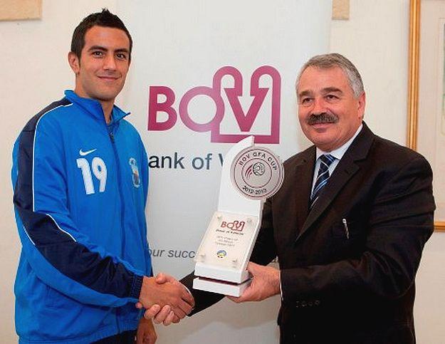 Nadur defender Saviour Attard is BOV Player of the Month