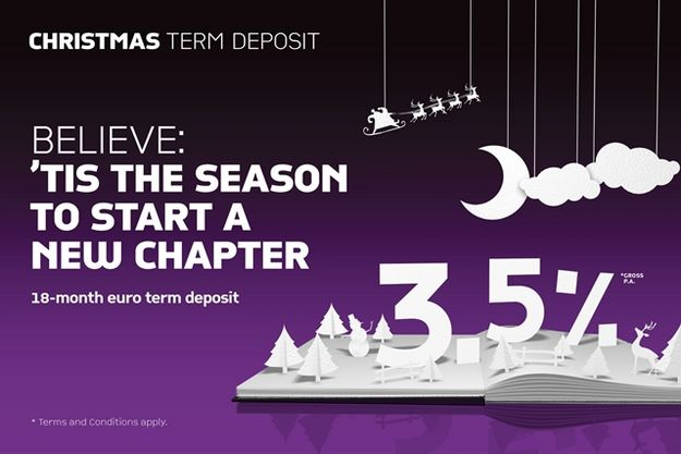 18-month Christmas Term Deposit offer from Banif Bank