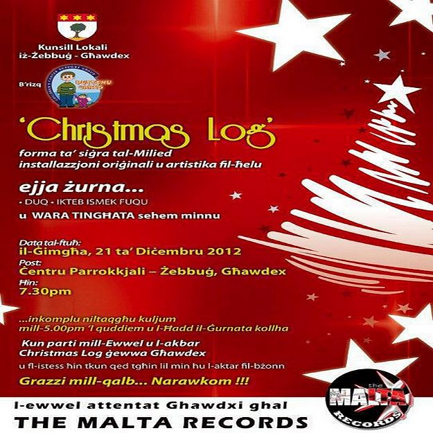 Attempt at a Malta Record for the Zebbug 'Christmas Log'