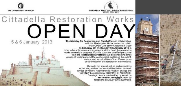 Open Weekend to view restoration work at Citadel bastions