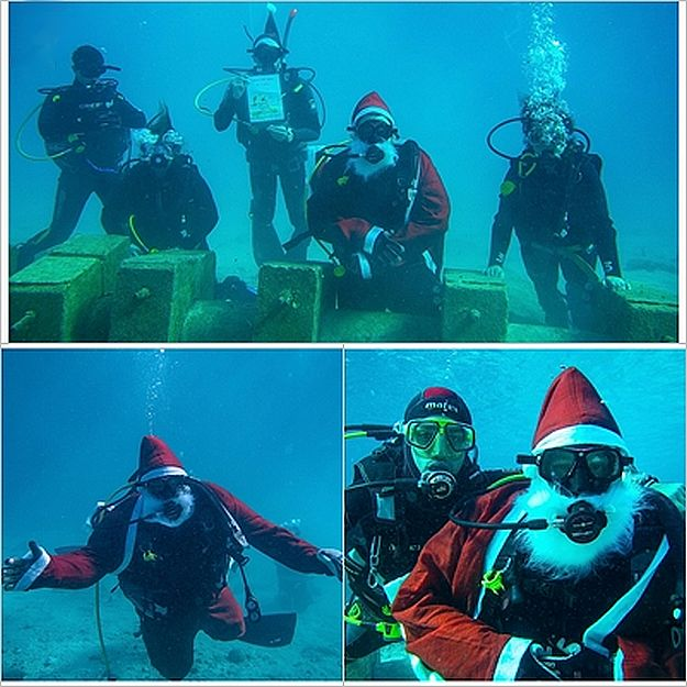 E.R.R.C. Christmas Day 'Photo with Santa Underwater'