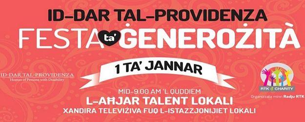 'Feast of Generosity' event towards Id-Dar tal-Providenza
