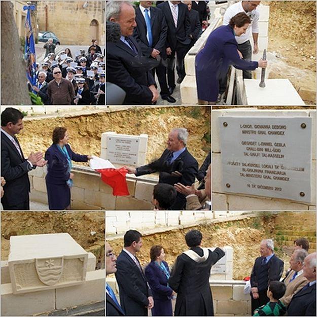 First stone laid at Ghajnsielem's 'Ghajn tal-Hasselin' project