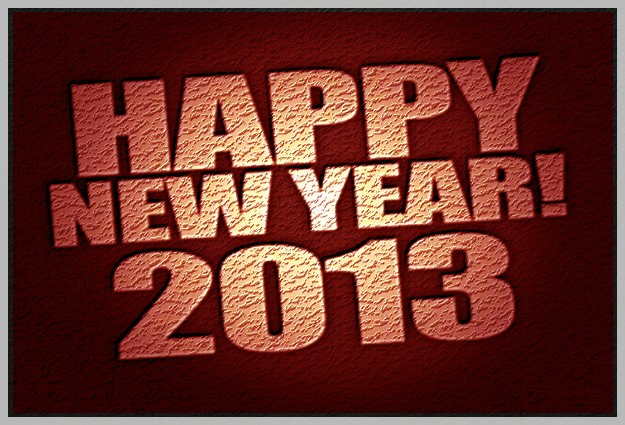 Wishing all our readers a Happy & Healthy New Year 2013