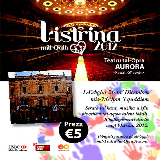 Istrina 2012 Gozo events being held at the Aurora Theatre