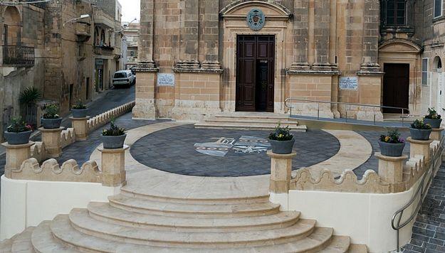 Newly restored parvis of Kercem Parish Church inaugurated