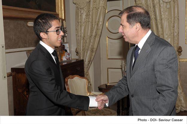 Larkin Zahra pays courtesy visit to President George Abela