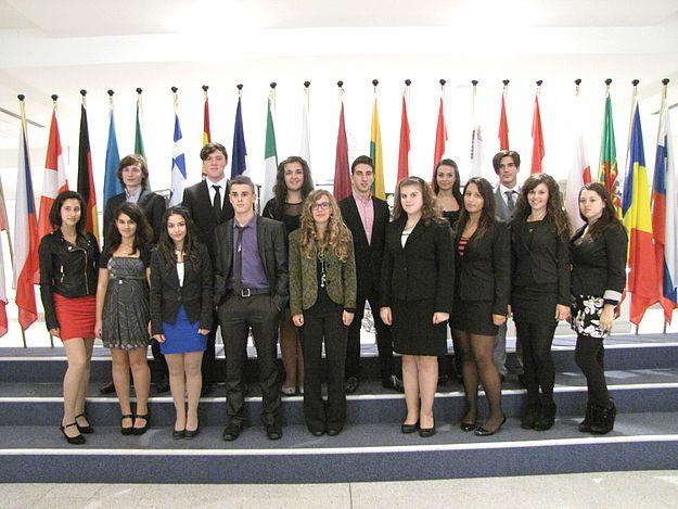 Gozitan school students visit the European Parliament