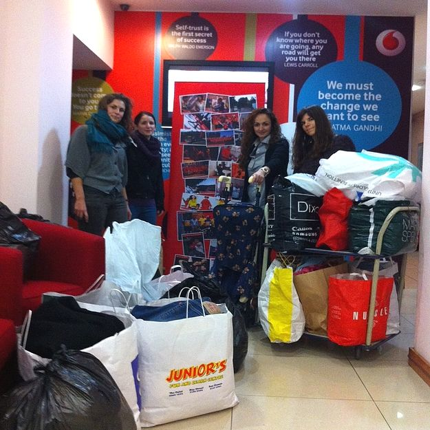 Clothes donated to immigrants this Christmas by Vodafone