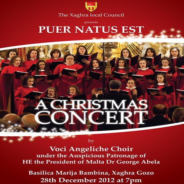 'Puer Natus Est' -  The Xaghra 2012 Christmas Concert
