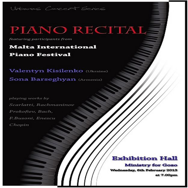 Urbanus Concert Series features a  piano recital in Victoria
