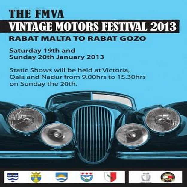 Gozo - FMVA Vintage Motors Festival 2013 this weekend