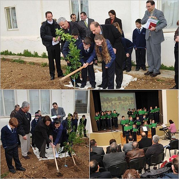 Gozo College Zebbug Primary tree planting for Arbor Day