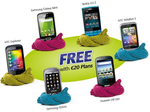 Melita Mobile range of 3G smartphones free with €20 plans
