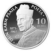 'European Writers' -  Dun Karm Psaila numismatic coins issue