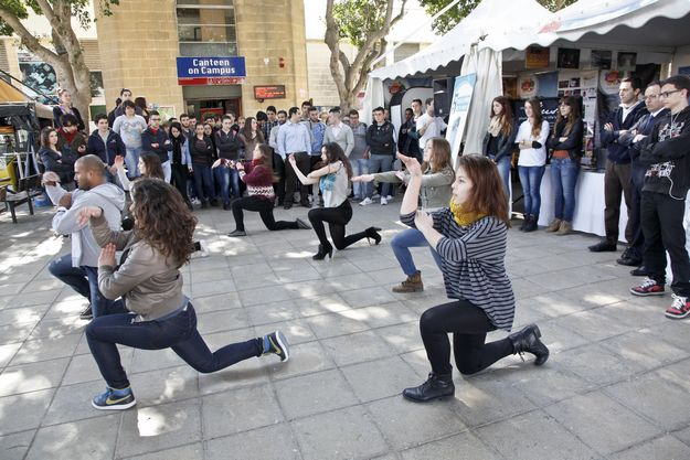 Surprise flashmob appear on the last morning of Gozo Week