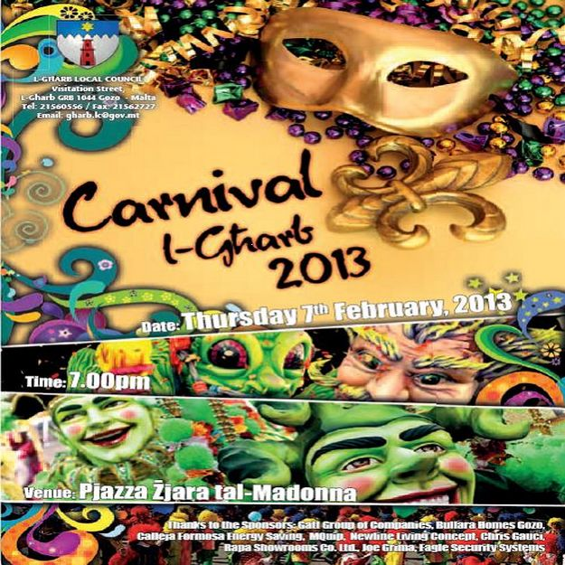 Gharb Carnival 2013 events taking place this Thursday