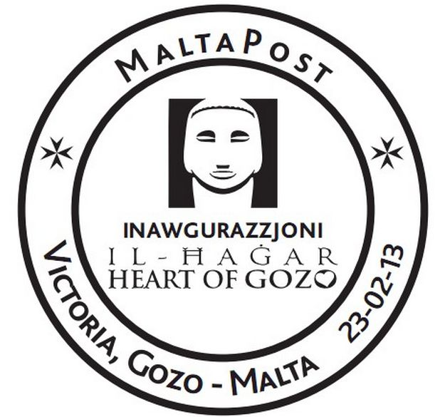 Hand postmark for Il-Hagar|Heart of Gozo inauguration