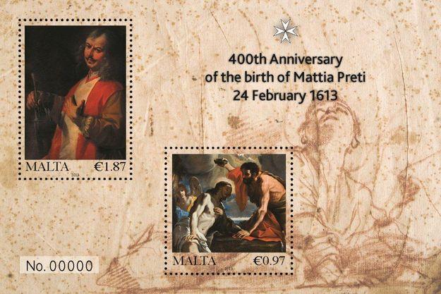 MaltaPost commemorates 400th anniversary of Mattia Preti