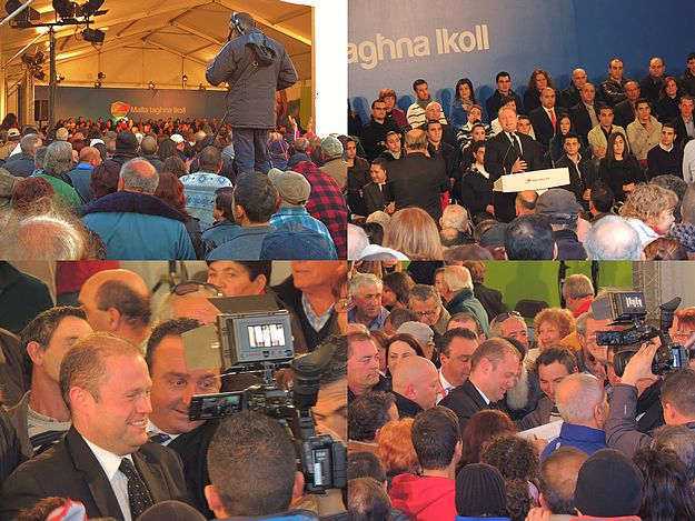 Large crowds welcome Labour Leader at Xaghra meeting