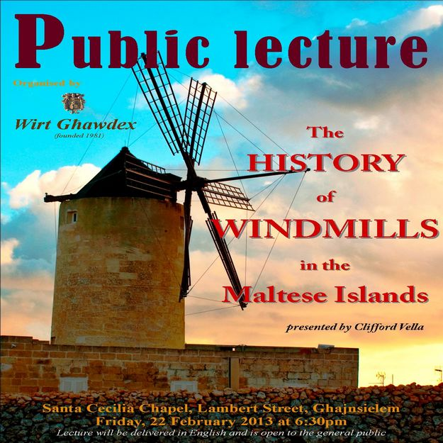 Wirt Ghawdex public lecture on the history of windmills