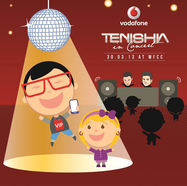 Chance to win 2 VIP tickets for Tenishia in Concert 2013