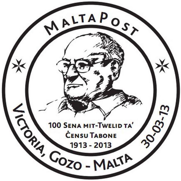 Censu Tabone's 100th anniversary special hand stamp