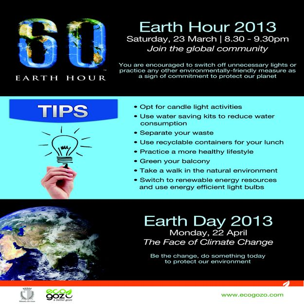 Gozo joins the world to protect the planet for Earth Hour