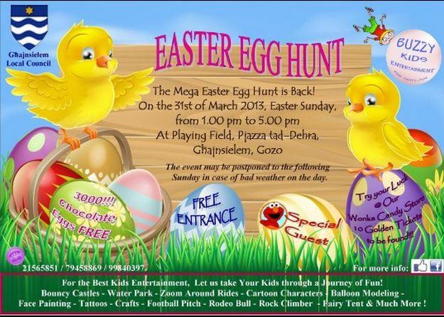 Buzzy Kids Entertainment Easter Egg Hunt in Ghajnsielem