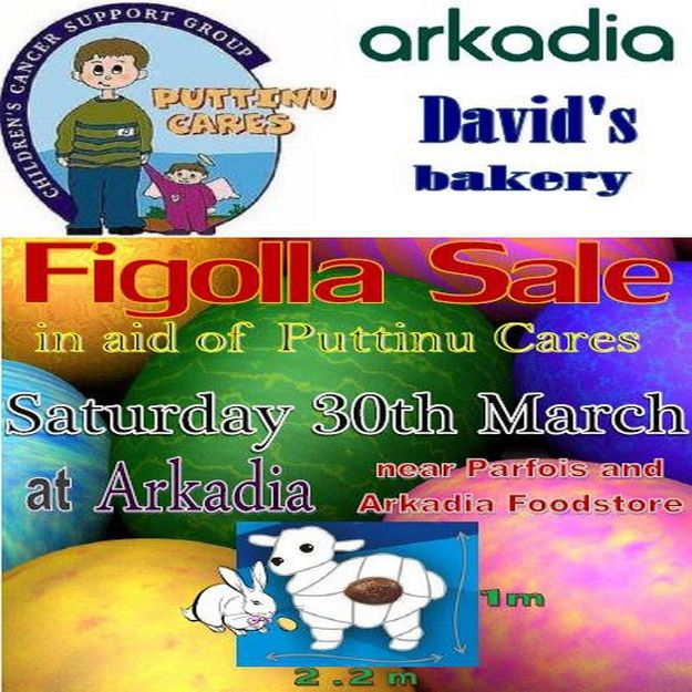Puttinu Cares Figolla Sale at Arkadia Gozo this Saturday