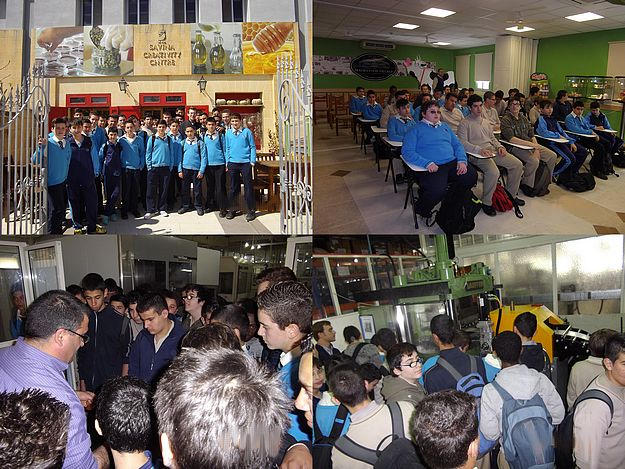 Secondary school engineering students visit Gozo factories