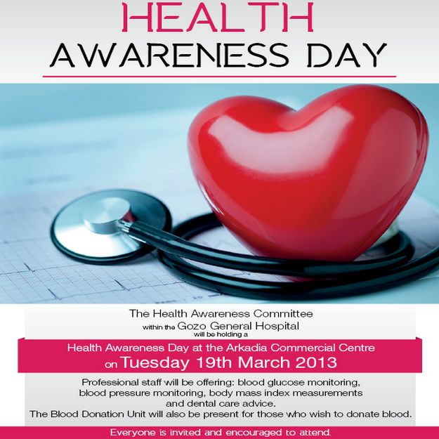 Health Awareness Day this Tuesday at the Arkadia Centre