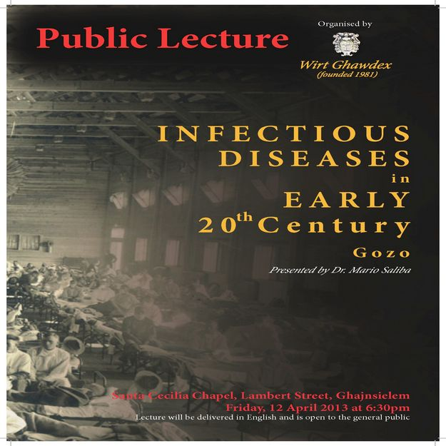 Lecture on 'Infectious Diseases in Early 20th Century Gozo'