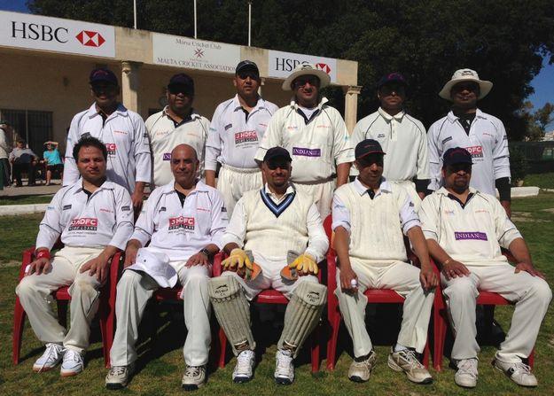 Touring team Peshwa CC play 2 game series against Marsa