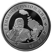 Issue of numismatic coin commemorating Grand Master Pinto